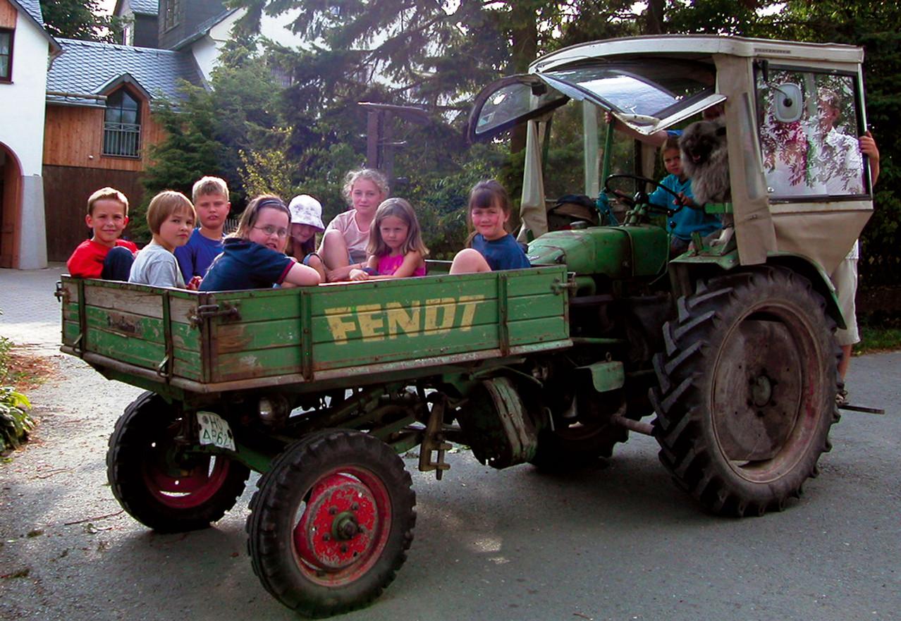Traktor fahren