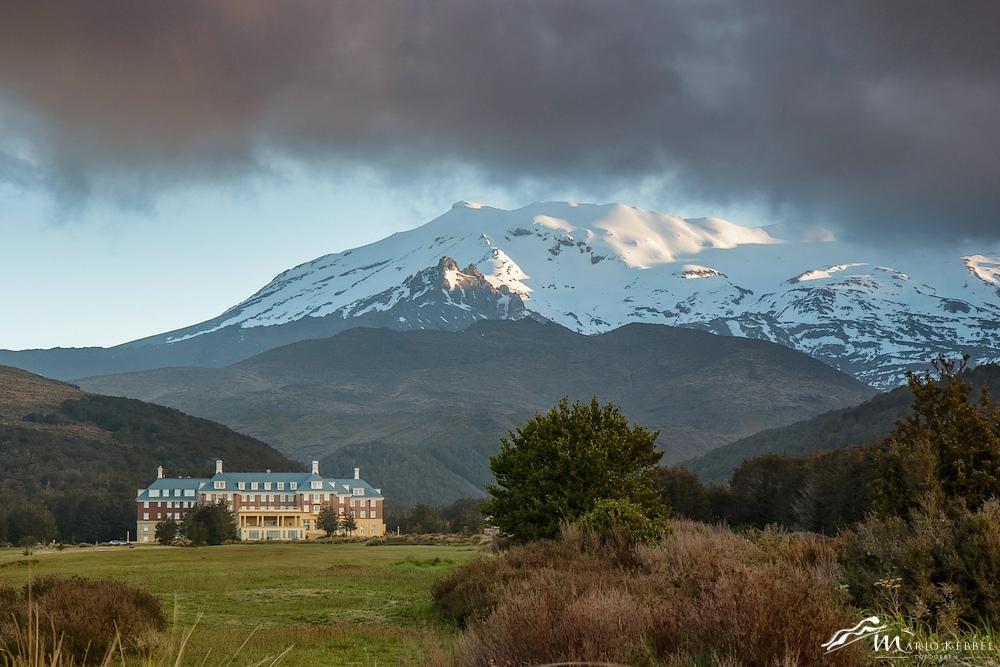 North Island: Chateau Tongariro am Mt. Tongariro