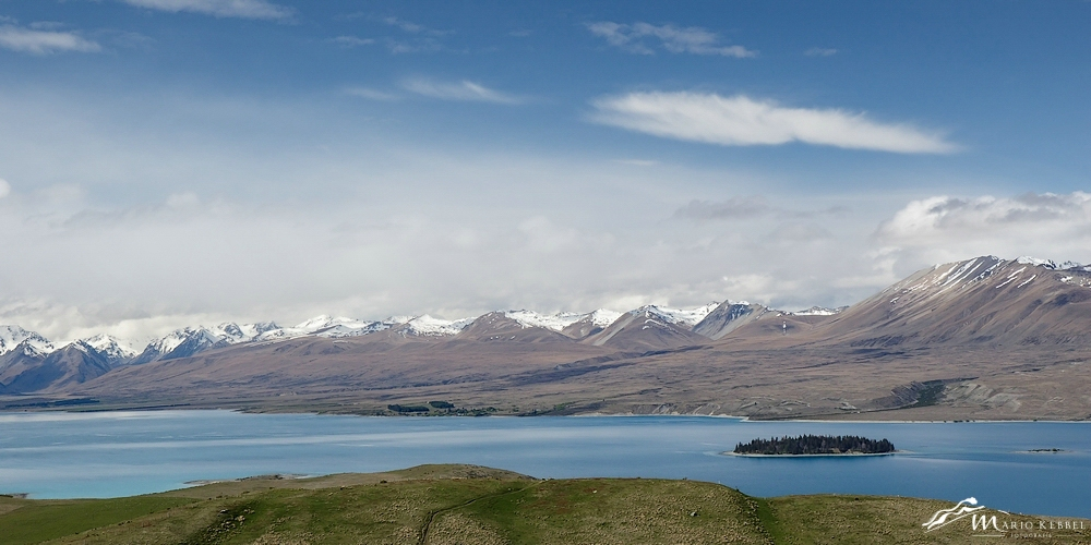 South Island: Blick vom Mt. John über den Lake Tekapo