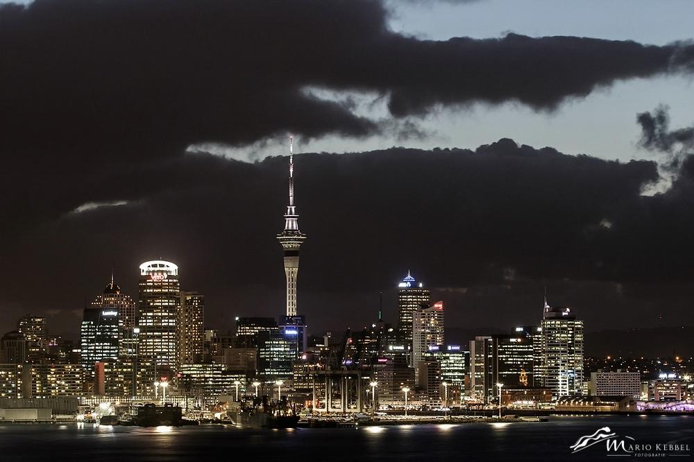 North Island: Lichter von Auckland