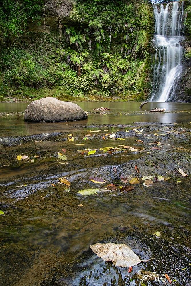 North Island: Omeru Wasserfall