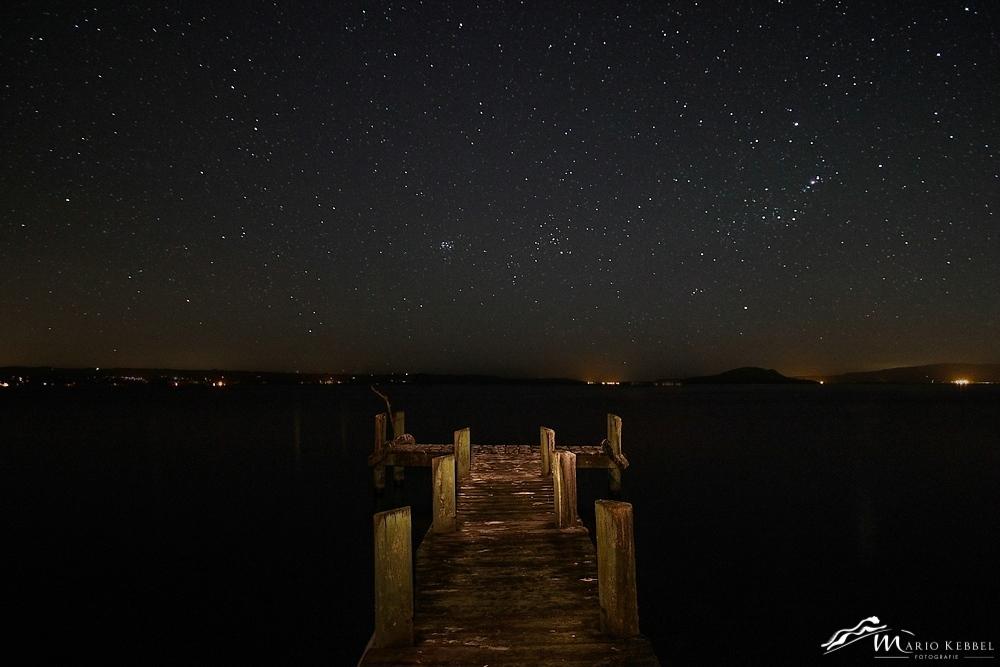 North Island: Sternenhimmel über dem Lake Rotorua