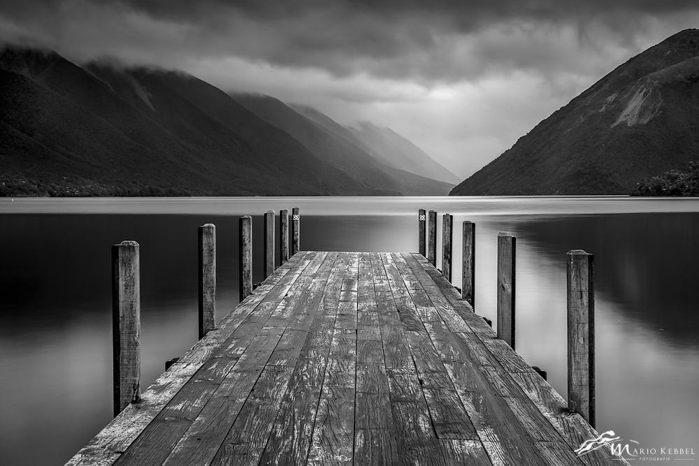 South Island: Blick über den Lake Rotoiti