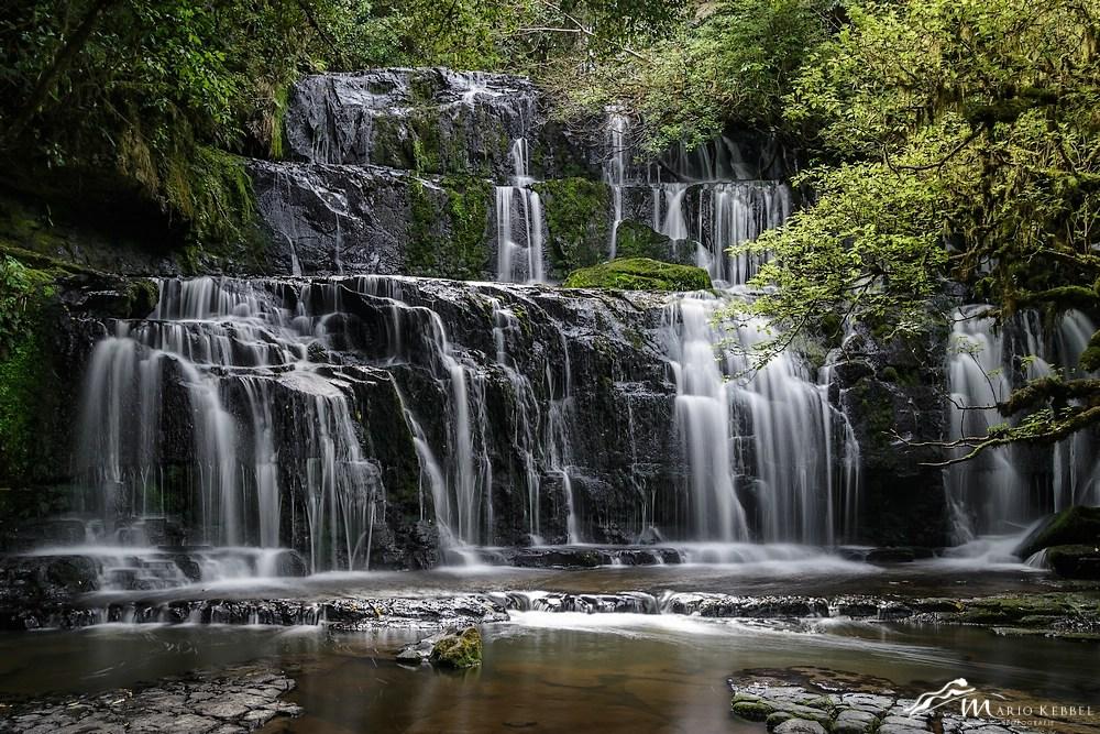 South Island: Purakaunui Wasserfall