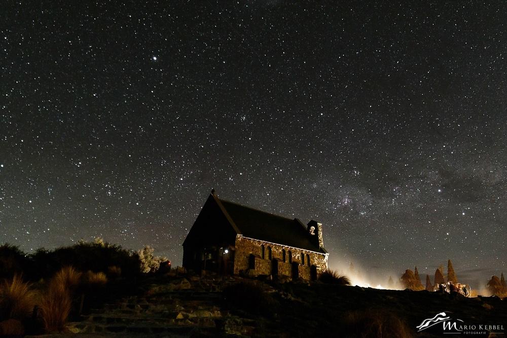 South Island: Sternenhimmel über der Church of the good Shepherd