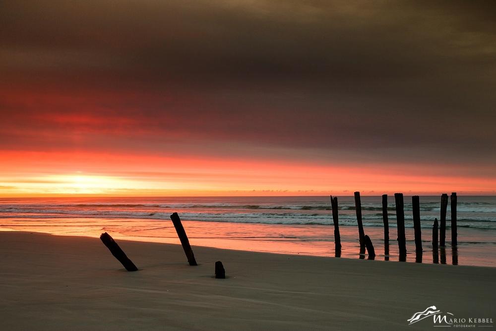 South Island: Sonnenaufgang am St. Clair Beach in Dunedin