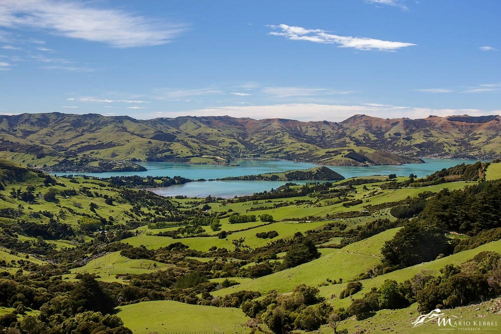 South Island: Banks Peninsula - Hilltop View