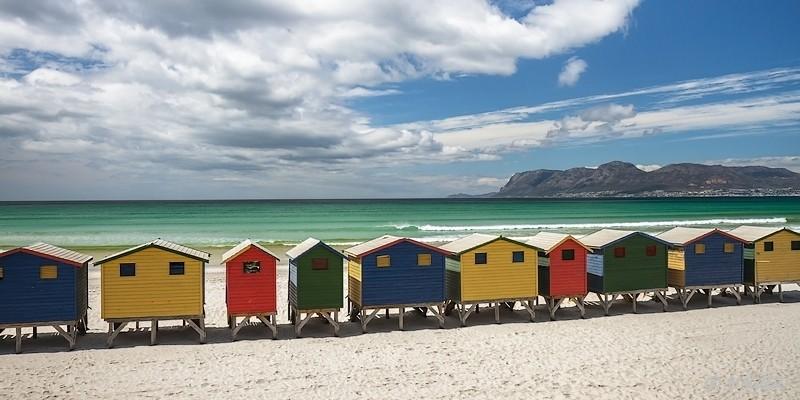 Strandhäuser von Muizenberg