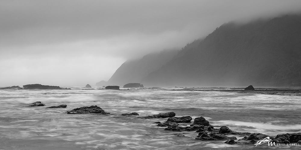 South Island: Sturm am Motukiekie Beach
