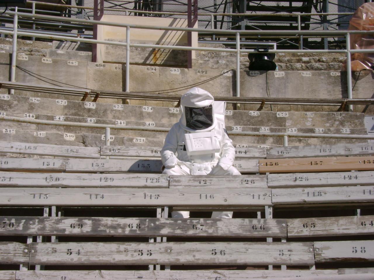 Der Mann vom Mond wartet auf seinen Einsatz...