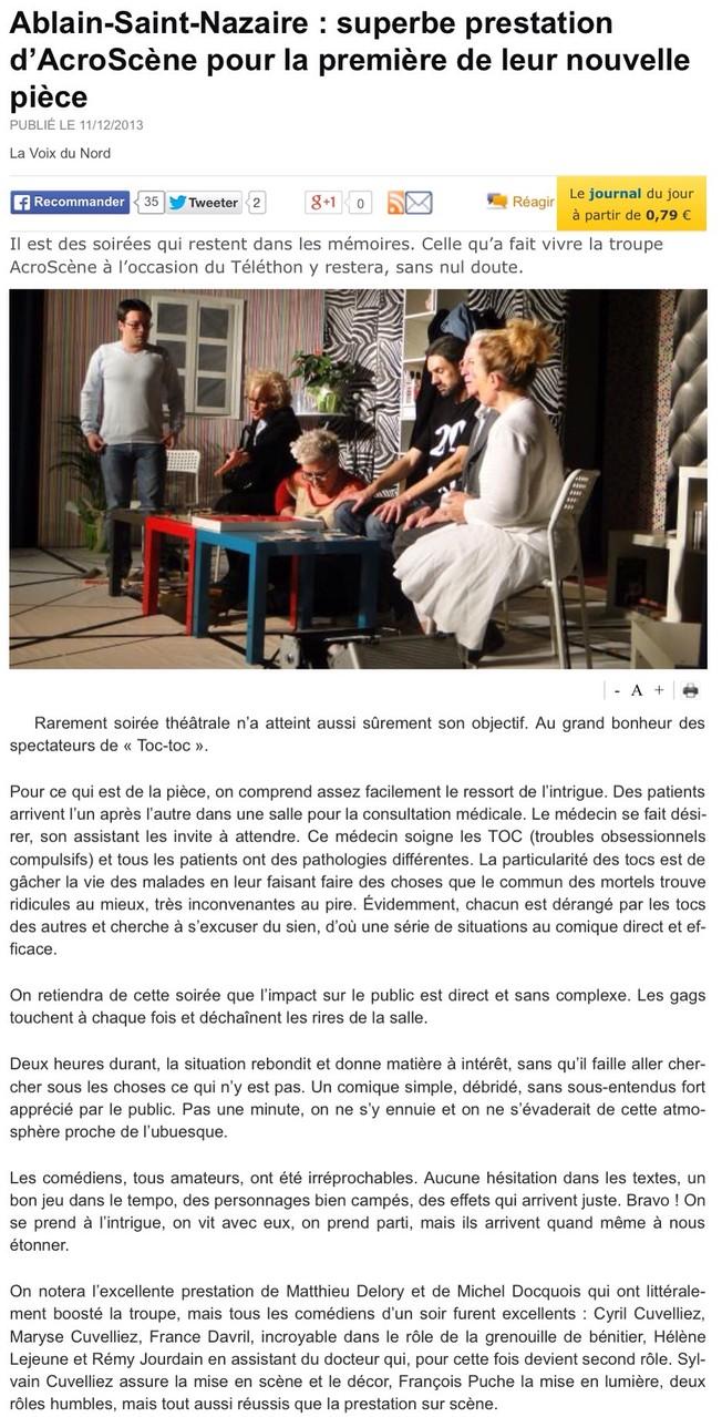 article 2 : TOC-TOC à Ablain-St-Nazaire