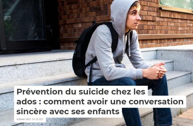 Prévenir le suicide chez l'adolescent.