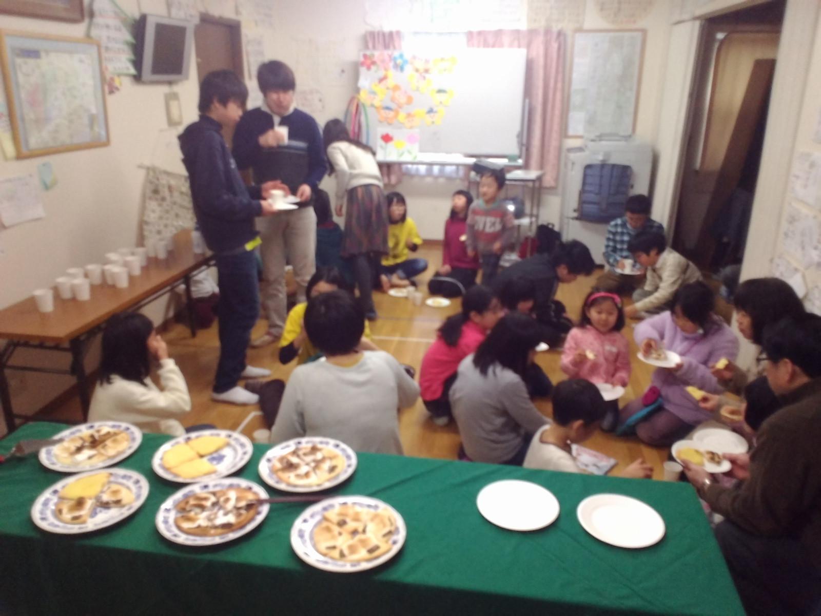朝の分級パーティー ピザ!