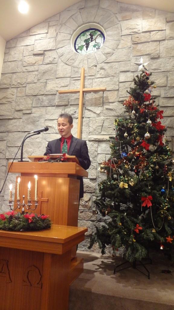 2013年12月24日(火)クリスマスイブ燭火礼拝
