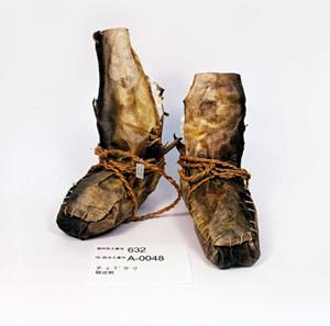 鮭の皮で作った靴