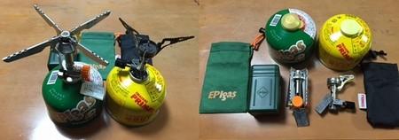 (左)EPIgas REVO-3700  (右)PRIMUS  115フェムトストーブ