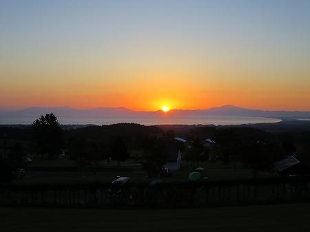 2016年10月 オホーツク海に朝日が