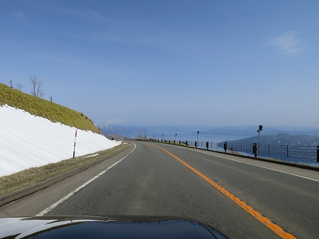 PM12:00 屈斜路湖を通過