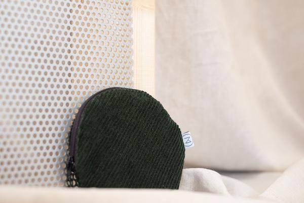 kleines rundes Täschchen - runder Beutel - Etui - Kosmetiktasche - Kosmetikbeutel - Zacamo