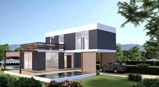 MODELO VAS 3 - 140        2 Dormitorios - 2 baños - 140 m2