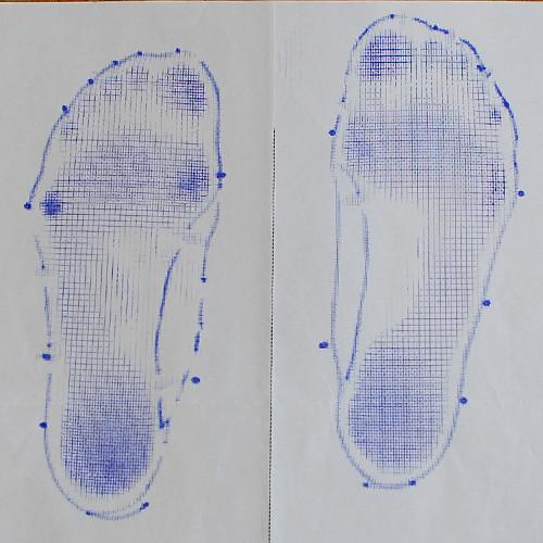 フットプリントであなたの足の表情を可視化