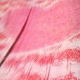 『こころ曼殊沙華とタンポポ模様』 タペストリー FujinoBingata/ふじのびんがた染工房【きもの】【ワンピースdress】の御誂え承ります。