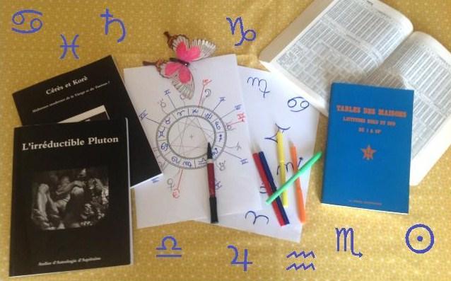 Horaires des cours d'Astrologie, rentrée 2021 et année 2022