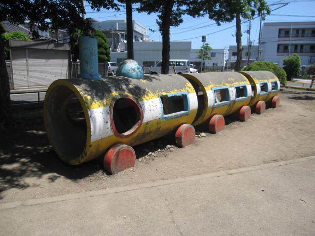 南宮城野公園にある「きしゃぽっぽ」の遊具です。