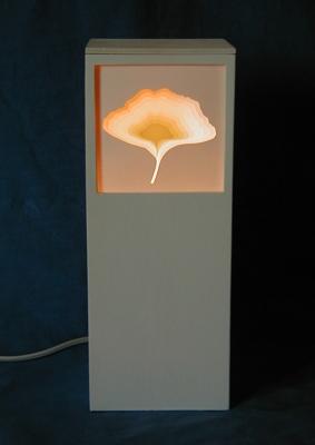 Ginkgoblatt beleuchtet