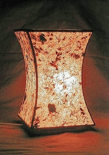 Lampe konkav Himalayapapier beleuchtet