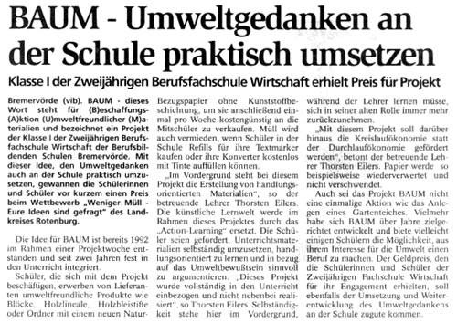 Wettbewerb 1995 Landkreis Rotenburg Wümme