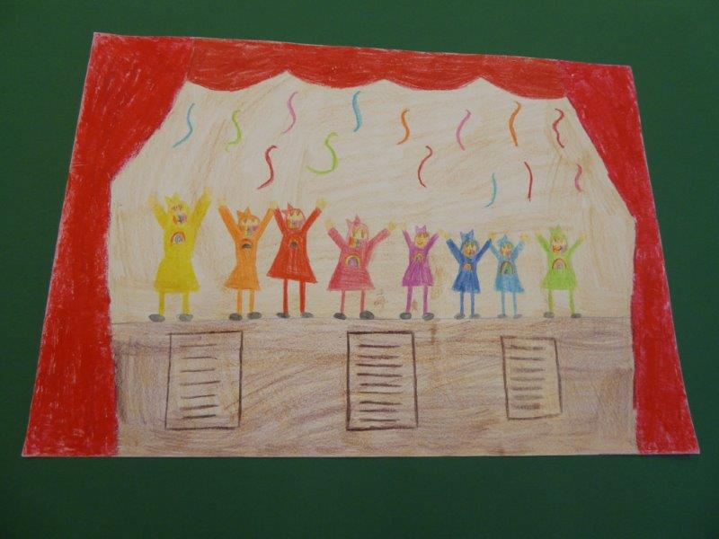 Regenbogenfarben - Clara B., 2. Klasse