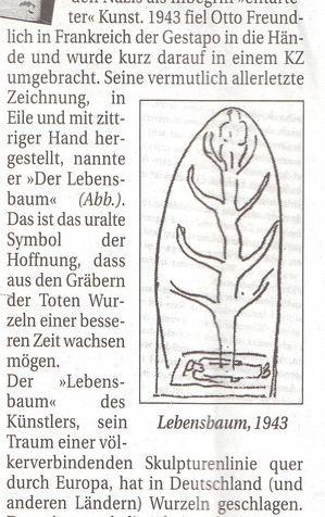 Aus dem Bucher Boten vom September 2012, dieses Symbol verwand auch Günther Muchalla bei seiner Skulptur ohne vorher davon zu wissen, diese Übereinstimmung zeigt, wie Seelenverwandschaft geht.