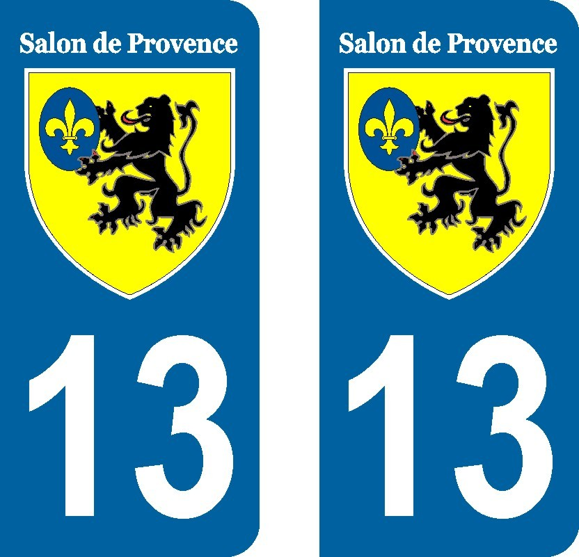 Salon de provence stickers pour plaques immatriculation - Piscine salon de provence ...