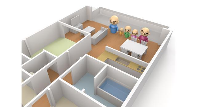 マンションの床面積