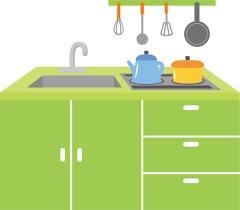 キッチンは高さ調節できる製品を