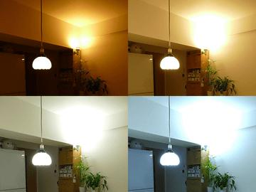 スイッチひとつで4つの白色光が演出できる