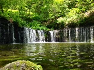 軽井沢の白糸の滝の美しさ・・