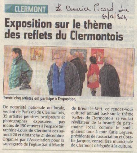 Exposition de peintures organisée par l'association pour la Sauvegarde de l'église Saint Martin de Breuil le Vert SMBLV