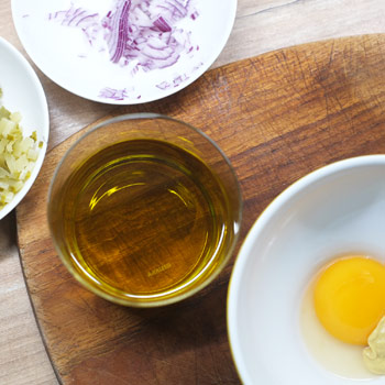 Kerstins Keto, Zutaten für Remoulade mit Zitronencurry
