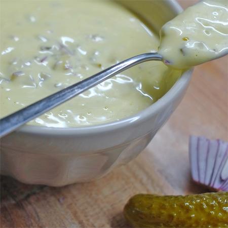 Remoulade mit feinem Zitronencurry