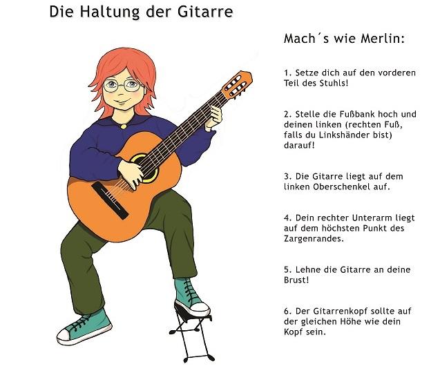 """aus """"Merlins Gitarrenstunde"""" Gitarrenschule für Kinder Band 1"""