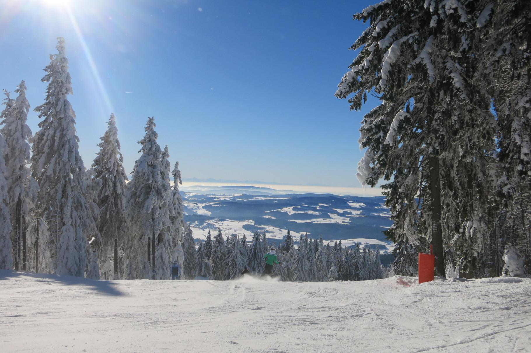 Winterspaß im Skigebiet Hochficht