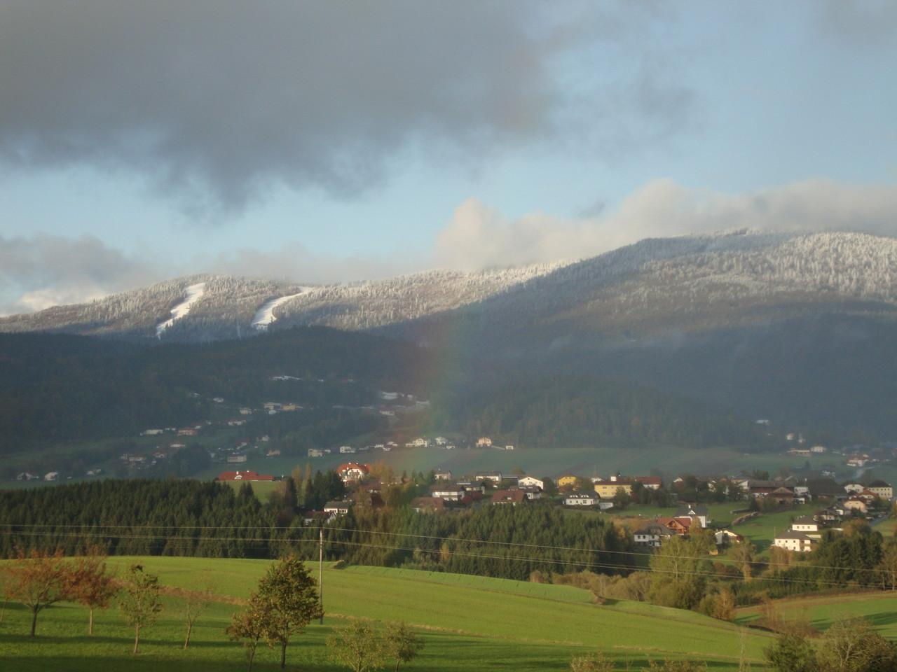 Blick auf den Böhmerwald mit dem Skigebiet Hochficht