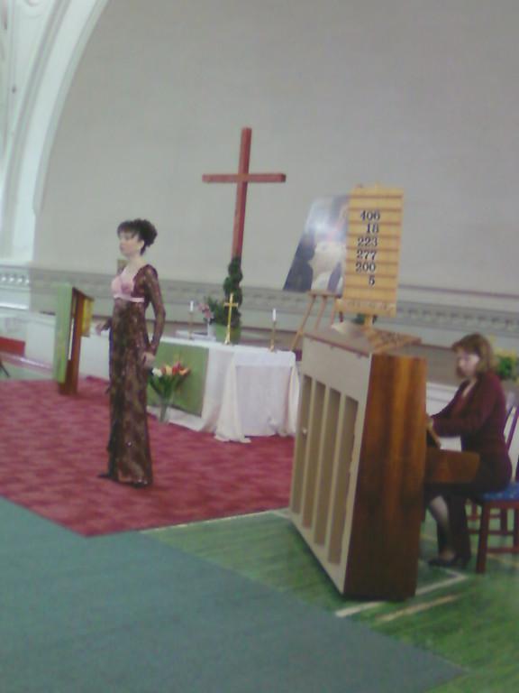 Ольга Москвина на закрытии фестиваля в Шведской церкви