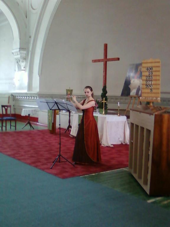 Юлия Гараникова на закрытии фестиваля в Шведской церкви