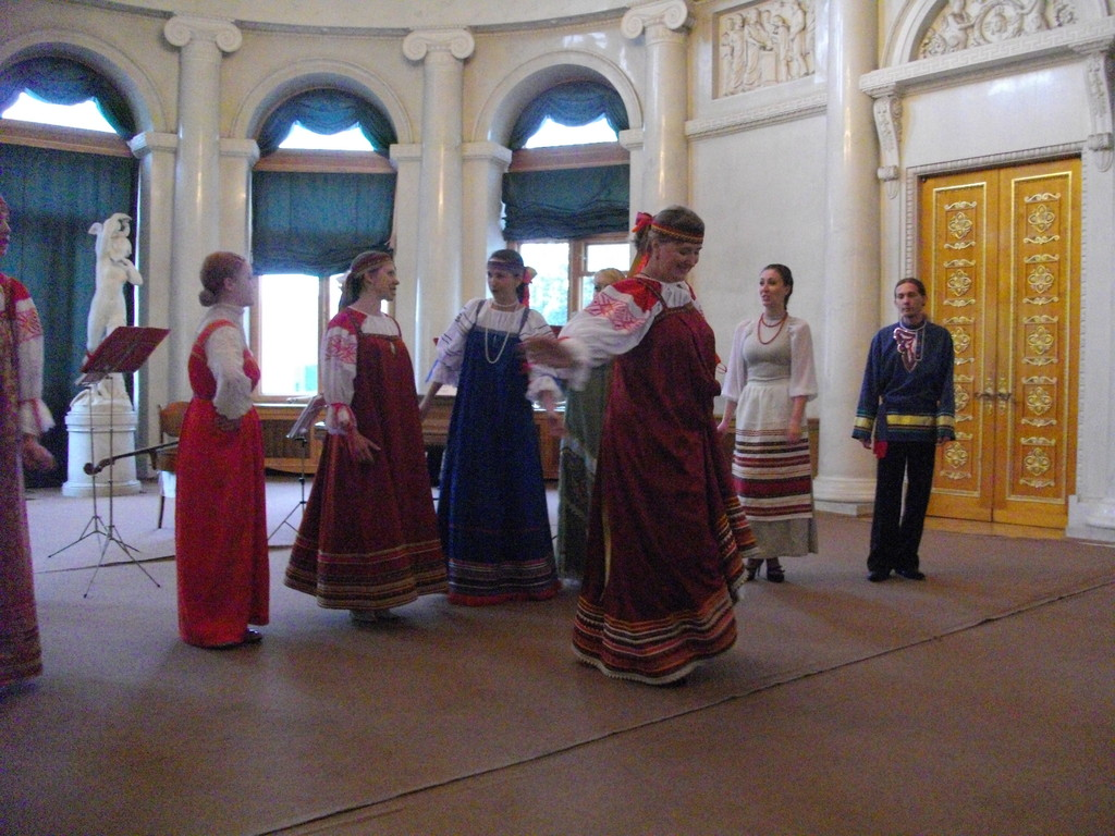 Ансамбль народной песни в Елагиноостровском дворце-музее