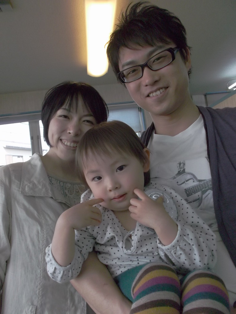 もうホント素敵なご家族でしょ~娘さんのポーズとっても可愛らしい(^^)