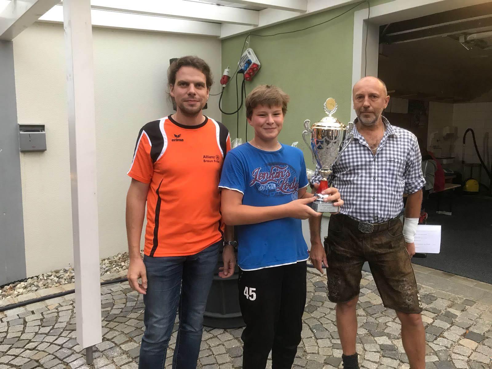 Biedermann Benedikt: 1. Bezirksmeister LP-Schülerklasse