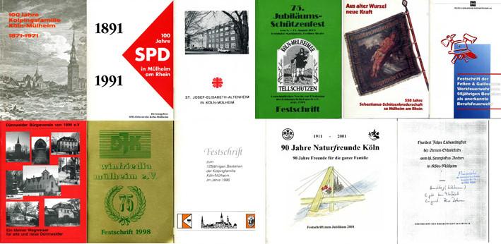 Sammlung von Mülheimer Chroniken und Festschriften